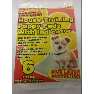 House Training Puppy Pads With Indicator - Pack Of 6