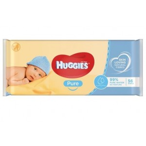Huggies Baby Wipes - Pure - Paraben Perfume And Alcohol Free - Pack Of 56