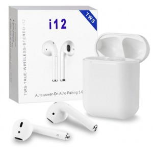 i12 - V5.0 TWS True Wireless Stereo Android/ iOS Bluetooth Earphone with Charging Case