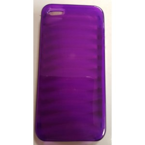 Iphone 5 Mobile Phone Gel Cover Case - Purple