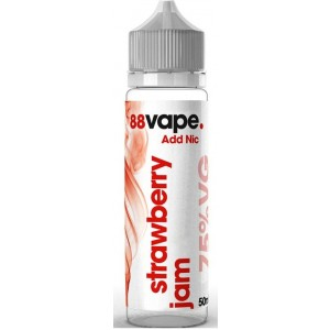 88 Vape Shortfill E Liquid - Strawberry Jam - 75% Vg - 50Ml