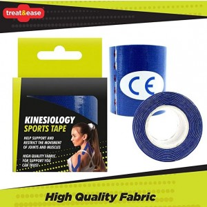 Treat & Ease Kinesiology Sports Tape - Blue - 5cm x 1.5m