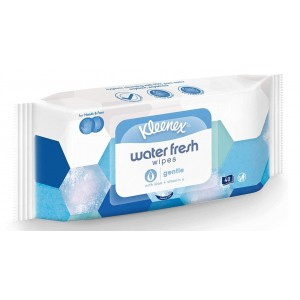 Kleenex Water Fresh Wipes with Aloe & Vitamin E - Gentle - Pack of 40 Wipes - Exp: 11/22