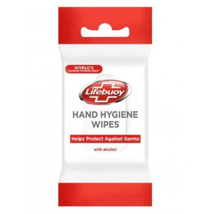 Lifebuoy Hand Hygiene Wipes with Alcohol - Pack of 10