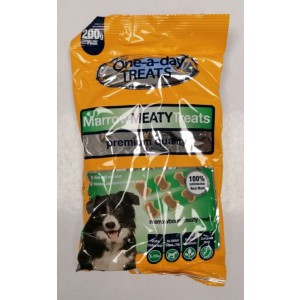 One-A-Day Premium Quality Marrow Meaty Treats for Small-Medium Dogs - 200g - Exp: 06/2022