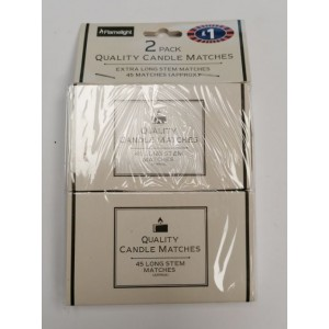 Flamelight Extra Long High Quality Stem Matches - 45 Matches per Pack - Pack of 2 - Price Marked £1