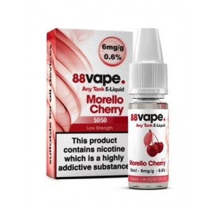 88 Vape Any Tank E Liquid - Morello Cherry - 50/50 Pg/Vg - 6Mg - 10Ml