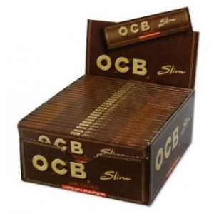 Ocb Unbleached Virgin Paper - Slim - Pack Of 50 X 32