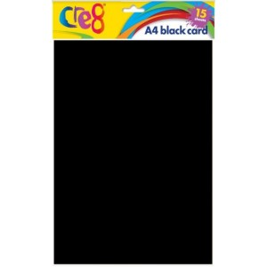 Cre8 A4 Black Card - Pack of 10