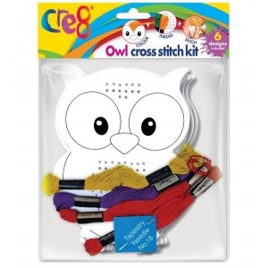 Cre8 Owl Cross Stitch Kit - Pack of 6