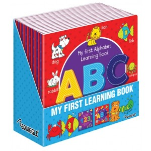 My First Alphabet/Numbers Learning Colouring Books - Assorted Designs - 21 x 21cm