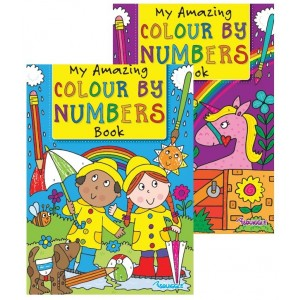 My Amazing Colour by Numbers Book - Assorted Designs - 29.5 x 21cm