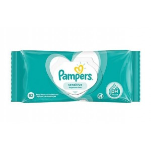 Pampers Sensitive Baby Wipes - Fragrance Free - Pack of 52 - Exp: 05/23
