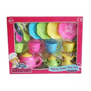 My Little Kitchen Party Time 15 Piece Tea Set - 32 x 25 x 6cm