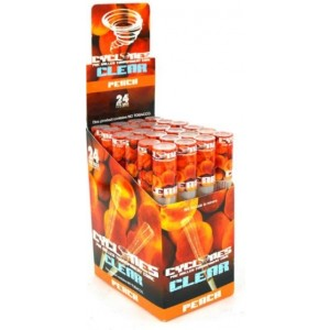 Cyclone Pre Rolled Clear Cone - Peach - Pack Of 24