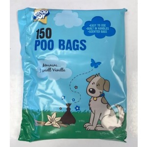 Armitage Good Boy Scented Poo Bags for Dogs with Tie Handles  - 30 x 15cm - Pack of 150