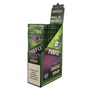 Juicy Hemp Wraps - Purple - Pack Of 50 (25 X 2)