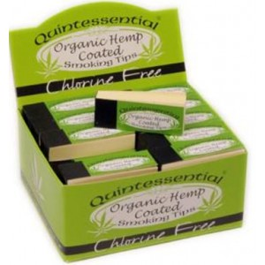 Quintessential Organic Hemp Coated Smoking Tips - Chlorine Free - Pack Of 50 Booklets