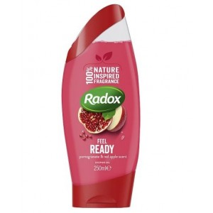 Radox Feel Ready Shower Gel with Pomegranate & Red Apple Scent - 250ml