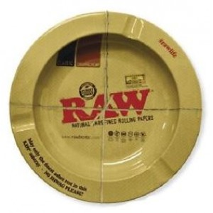 Small Raw Classic Authentic Round Ashtray - 14cm