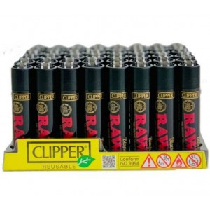 Clipper Classic Large Reusable Pure Isobutane Eco-Lighters - Raw - Black