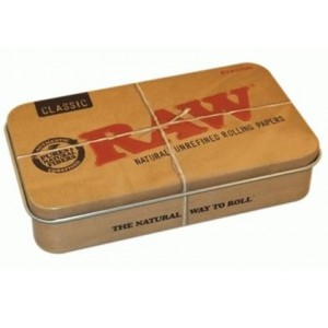 Raw Rolling Papers Printed Tobacco Storage Tin