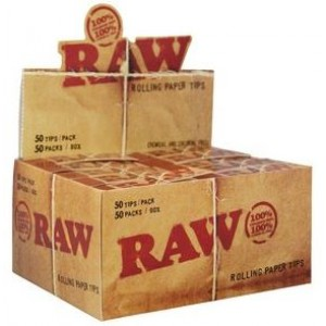 Raw Natural Unrefined Tips - Original - Chemical And Chlorine Free - Box Of 50