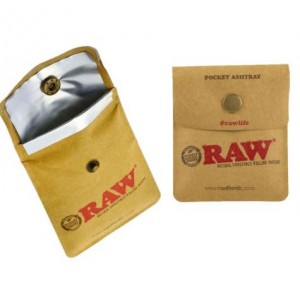 Raw Rolling Paper Pocket Purse Ashtray