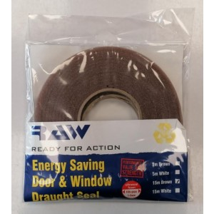 RAW Ready for Action Energy Saving Draught Seal for Doors & Windows - Brown - 15m