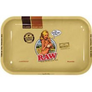 Large Raw Bikini Girl Classic Authentic Rolling Tray - 27.5Cm X 34Cm