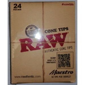 Raw Authentic Cone Tips - Maestro - Pack of 24