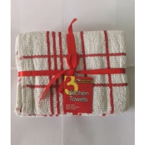 Kitchen Towels - 100% Cotton - Pack Of 3
