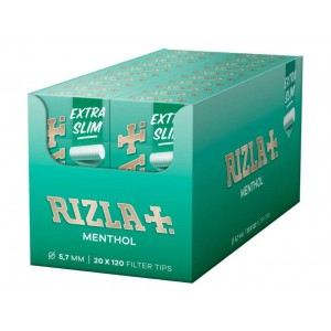 Rizla Plus Filter Tips - Menthol - Extra Slims - 5,7Mm - Pack Of 120