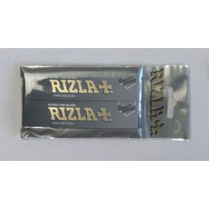 Rizla Super Thin Silver King Size Slim Cigarette Paper - Pack of 2 Booklets