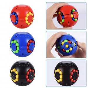 4GL Sensory Fidget Spinner Puzzle Ball Toy - 6cm - Colours May Vary