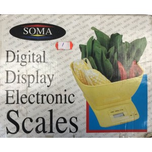 Soma Digital Display Electronic Scale with Measuring Bowl - Faulty Packaging - No Return