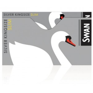 Swan Silver Kingsize Slim Cigarette Rolling Papers - Box Of 50 Booklets