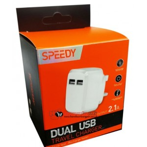 Speedy 2.1 Amp Fast Dual Twin 2 Port Usb Charger - Model Sp-Tc55A