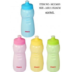 Sports Drinking Bottles - Assorted Colours - 600Ml