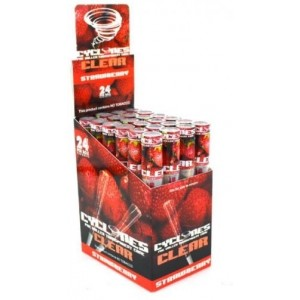 Cyclone Pre Rolled Clear Cone - Strawberry - Pack Of 24