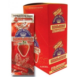 Hemp A Rillo Tobacco Free Royal Blunts - Pack of 15 - Strawberry
