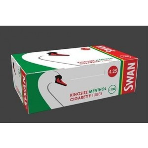 Swan Kingsize Menthol Cigarette Tubes - Pack Of 100 - Price Marked £1.25