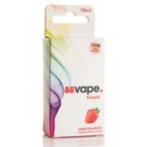 88 VAPE E LIQUID - SWEET STRAWBERRY - 11mg - 10ml