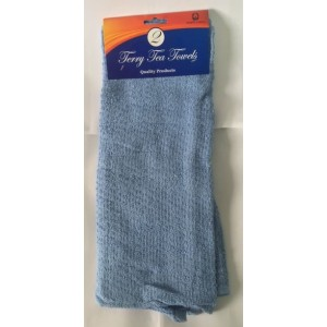 Terry Tea Towel - 100% Cotton - Pack Of 2