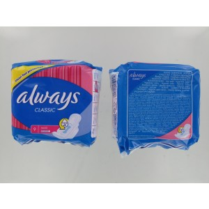 Always Classic Maxi Sanitary Pads/Towels With Wings - Pack Of 9