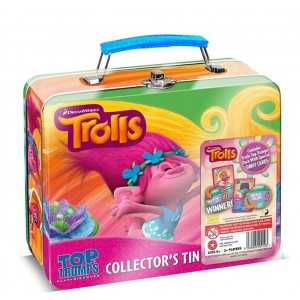 Trolls Top Trumps Collector's Tin - 20 x 17 x 8cm - For Kids Age 6+