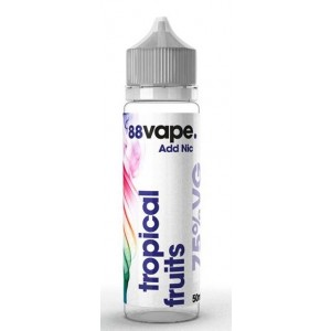 88 Vape Shortfill E Liquid - Tropical Fruits - 75% Vg - 50Ml