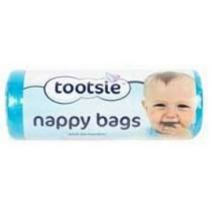 Nappy Bags With Tie Handles - Roll Of 150