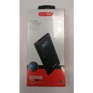 Ven-Dens High Quality Polymer Portable Power Bank with Display - 10000mAh