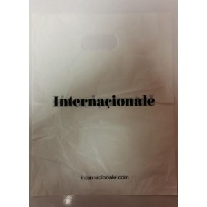 PLASTIC CARRIER/SHOPPING BAGS - WHITE - PACK OF 1000 - 29cm x 22.5cm